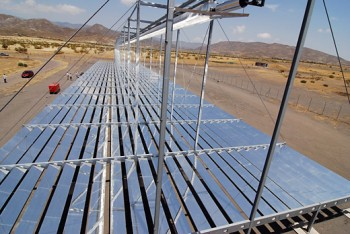 High temperature solar thermal energy.  Fresnel linear receivers.
